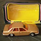 CORGI Toys car Model OPEL SENATOR gold color in it's gift box Original from 1979