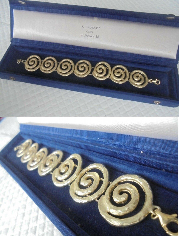 SPYRILIOTIS ATHENS BRACELET in sterling silver 925 and gold plated Original