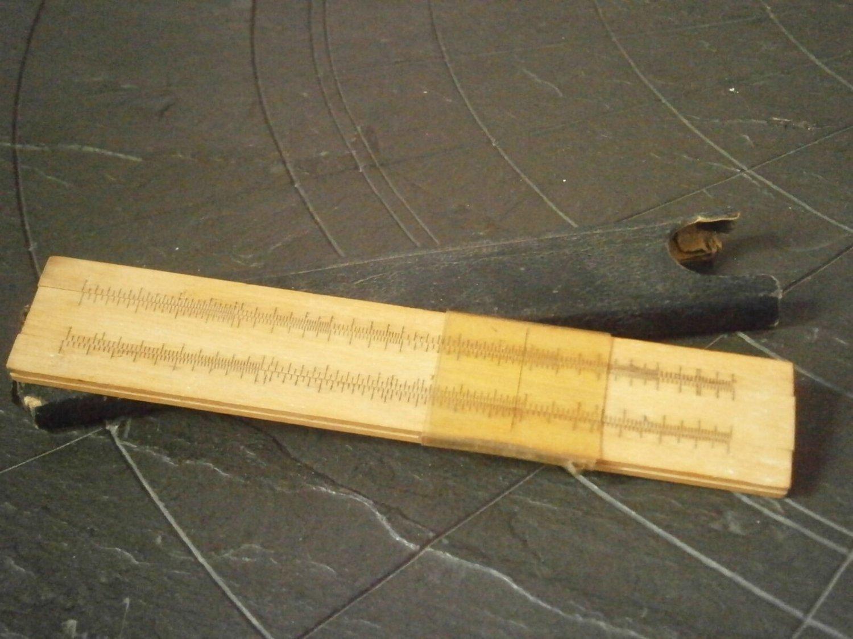 ALBERT NESTLER slide ruler in wood System RIETZ N. 5 original 1930s