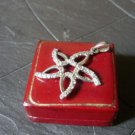 STAR PENDENT CHARM in sterling silver 925 and with Swarovski crystals Original in gift box