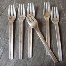 SET of 6 FORKS for ALITALIA airline in stainless steel by Pinti First class Original from 1960s