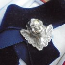 ANGEL face BRACELET in sterling silver 925 and velvet Made by SCHINE' Original in gift box