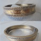 BRACELET VERMEIL in sterling Silver 925 and gold 18K John Millward Banks Birmingham 1887 Original