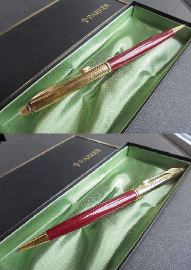 PARKER INSIGNIA Mechanical pencil pen lacque red color In gift box Original
