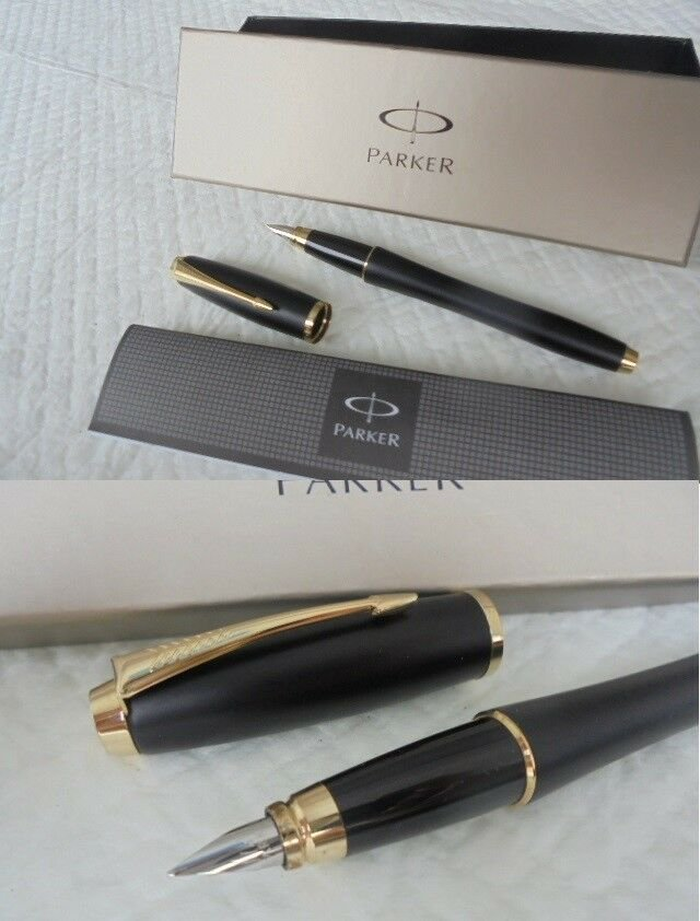 PARKER URBAN fountain pen black and gold in gift box with garantee Original