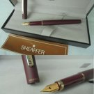 SHEAFFER SAILOR fountain pen in steel dark red color in box with garantee Original