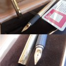 HASTIL AURORA fountain pen vermeil sterling SILVER 925 and gold 14K +gift box and garantee Original