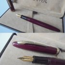 SHEAFFER CADET 23 fountain pen BORDEAUX and gold 14K in gift box Original