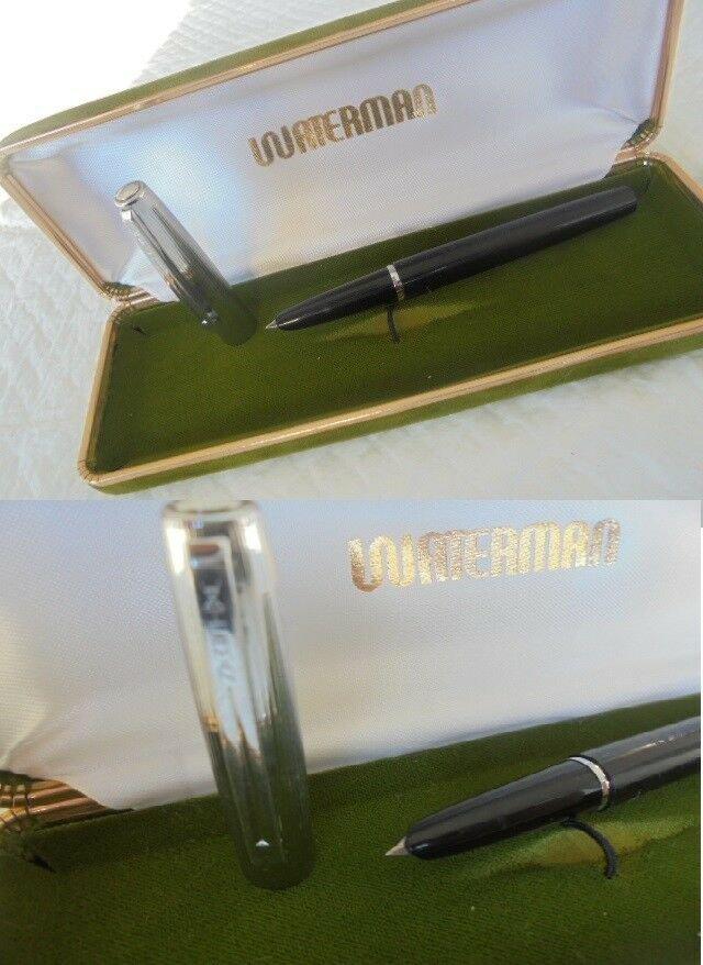 WATERMAN FLASH fountain pen black and steel Original in gift box