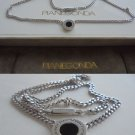 PIANEGONDA Italy heavy NECKLACE in sterling SILVER 925 with pendent Original in gift box