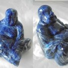 Sculpture of BUDDHA in real LAPIS LAZULI Original from 1970s