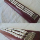 BRACELET in sterling SILVER 925 with 3 strands of real PEARLS Original 1950s in gift box