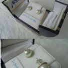 MILUNA Italy earrings in SILVER 800 with real PEARLS Originals in gift box