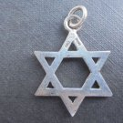 PENDENT charm STAR of DAVID in silver 800 Original Made in Italy