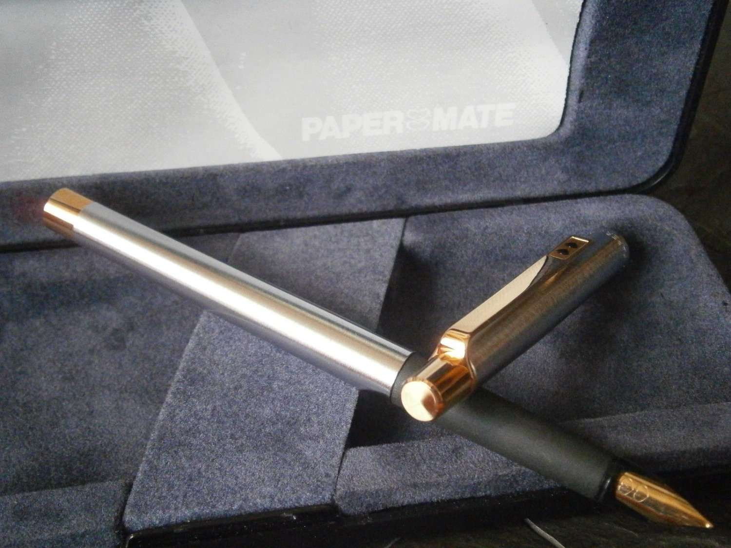 PAPERMATE DYNASTY fountain pen in steel Original in gift box with garantee