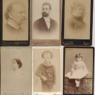 6 VINTAGE ITALIAN PHOTOGRAPHS portraits children men women Original end of 1800