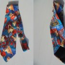 FENDI ITALY TIE blue and red Original necktie in 100% Silk