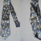 FENDI ITALY TIE blue and green Original necktie in 100% Silk
