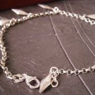 BRACELET in sterling SILVER 925 with charm pendents Original in gift box