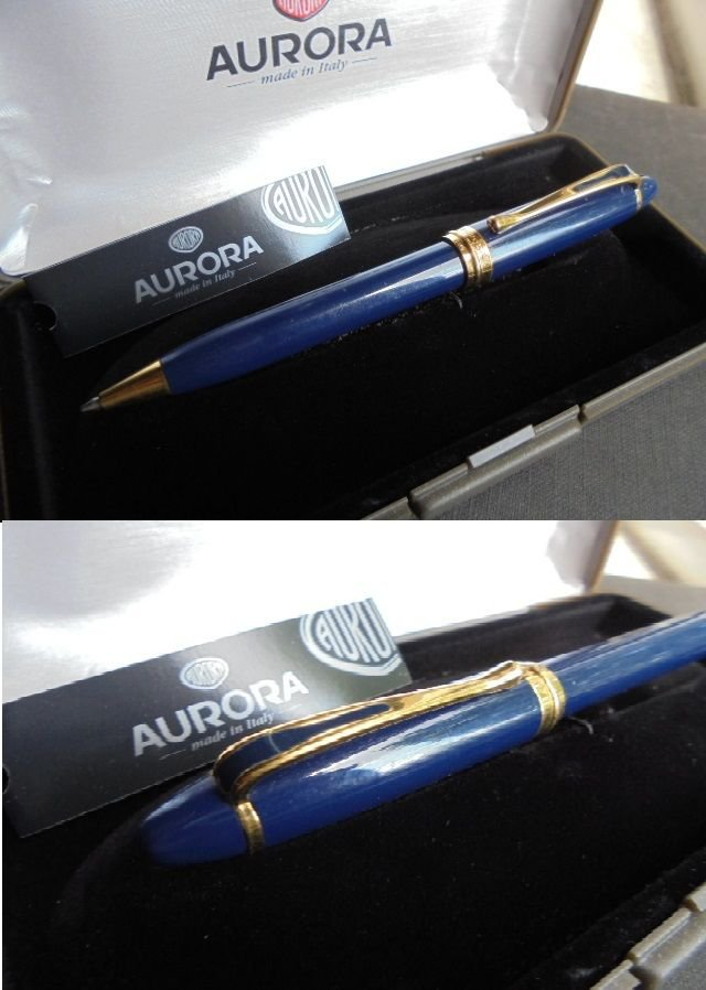 AURORA IPSILON de LUXE ball pen Laquè Blue Original in gift box