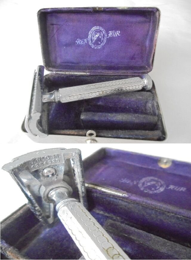 BEN HUR SOLINGEN shaving razor model Apollo Germany Original in box 1950s