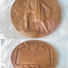 BRONZE MEDAL Chicago World Fair 1892 and 400 years discovery of AMERICA by Saint Gaudens