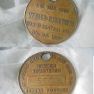 MEDAL Return postage Wells Disston Grande Central Station NEW YORK 1950s Original