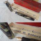 HELIOS FOUNTAIN PEN in celluloid and gold 14K + garantee Original 1955