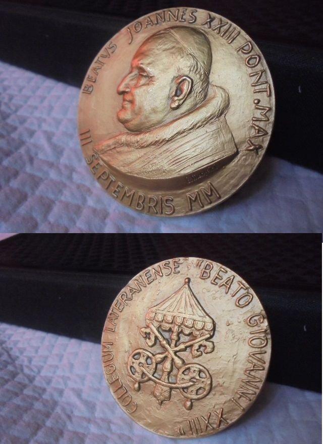 BRONZE MEDAL for the Beatification of Pope John Paul II engraved by Manfrini 2000 Original