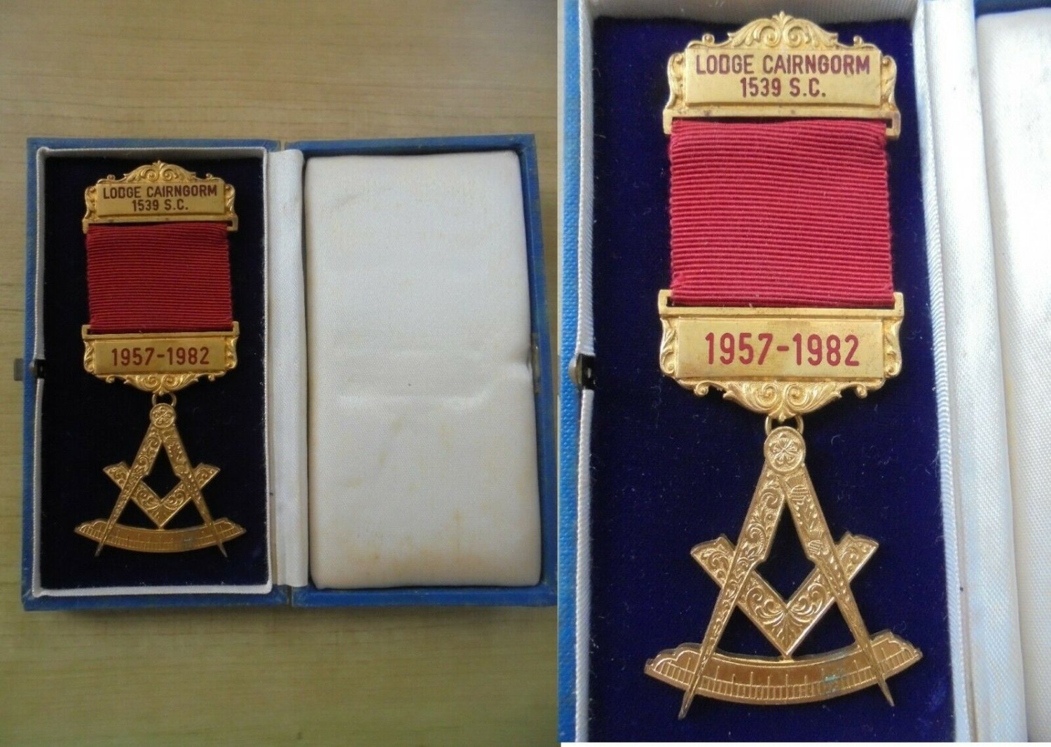 MASONIC PIN 25th Anniversary Lodge Freemasonry CAIRNGORM Scottish Scotland Original 1982 in box