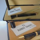 FABIO ZANNI ITALY fountain pen lacquè in black color and nib in gold 14K Original in gift box