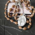 ROSARY of SAINT RITA from Cascia Italy Beads in brown melamine 1960s