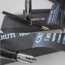 CERRUTI 1881 ITALY fountain pen in black steel Original in gift box + garantee