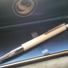 CAMPO MARZIO Italy SLIM ball pen in steel and leather Original in gift box