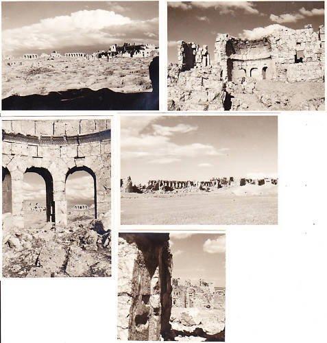 5 PHOTOGRAPHS of RESSAFE Syria black and white Original 1949 photos pictures
