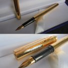 WATERMAN TORSADE fountain pen laminated gold Original in gift box
