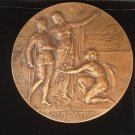 French BRONZE MEDAL L'Oeuvre Nationale Pro Patria engraved by Alfonse Mauquoy Original 1927