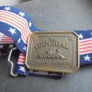 The General US Railroad LOCOMOTIVE elastic belt with buckle USA Original