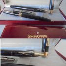SHEAFFER TRIUMPH IMPERIAL set of fountain pen and ball pen black & Gold 23K Original in gift box