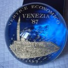 MURANO Paperweight paper weight in glass Venice Italy Original by FERRO & LAZZARINI 1987