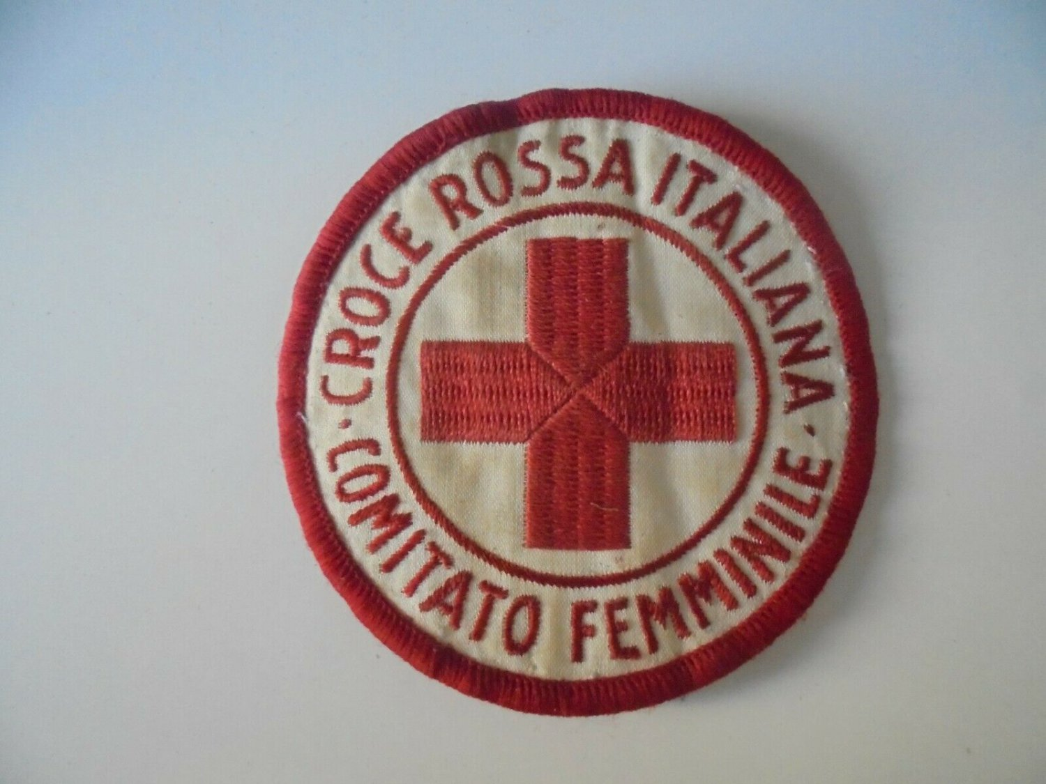 ITALIAN RED CROSS Women Committee Croce Rossa Italiana Comitato Femminile patch Original 1960s