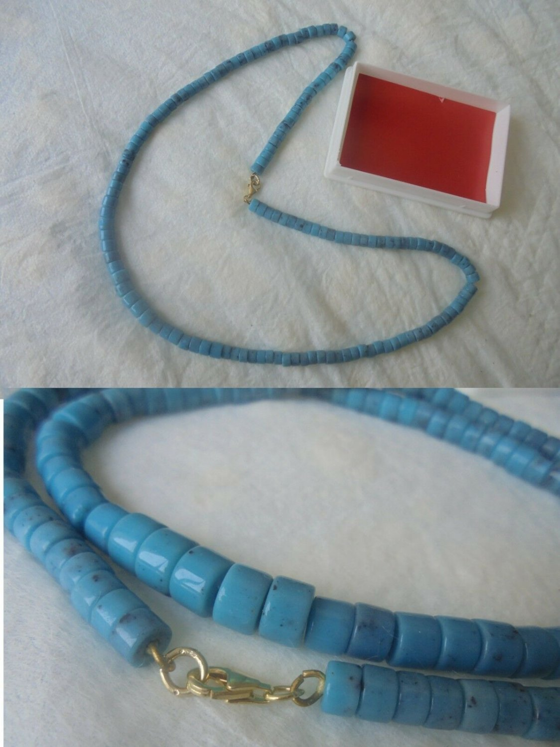 NECKLACE in TURQUOISE and Silver sterling 925 form Native Indians of Zuni Reservation USA 1980s