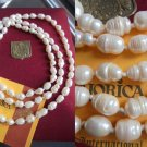 MAJORICA Long NECKLACE 1 strand of PEARLS Original in gift box + garantee cm 57