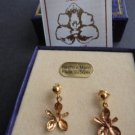 ORCHIDS earrings in sterling SILVER 925 and GOLD 24K made in Panama by Pedrosa Originals New in box