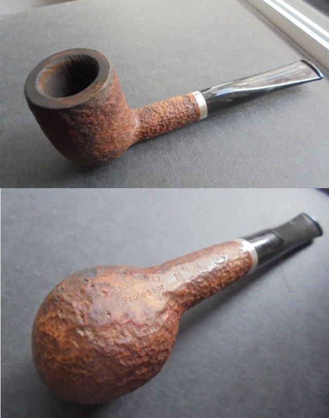 SAVINELLI PROFESSOR 104 Italy with ring in STERLING silver 925 Rock grain pipe Original