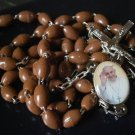 ROSARY NECKLACE Jesuits with medal of Pope Francis BERGOGLIO New