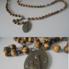 ROSARY necklace of JOAQUINA VEDRUNA in olive's wood Original 1940s