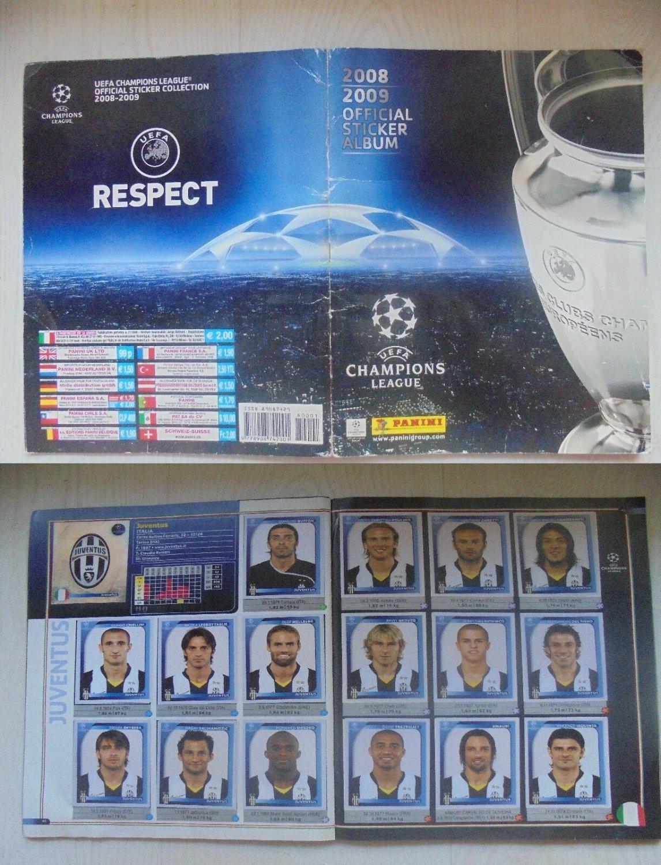 UEFA CHAMPIONS LEAGUE 2008 - 2009 sticker album Panini almost complete -2 stickers Original