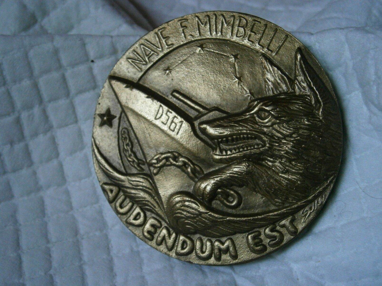 Bronze Medal of the MILITARY ship F. MIMBELLI Italy Original 1991