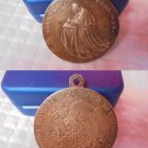 BRONZE MEDAL of Pope John Paul II trip to France and European Parlament engraved Manfrini 1988